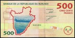 Burundi 500 Francos PK 50 (15-1-2.015) S/C