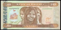 Eritrea 10 Nakfa PK 11 (24-5-2.012) S/C