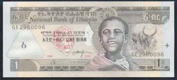 Etiopía 1 Birr Pk 46d (2.006) S/C