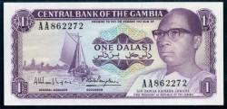 Gambia 1 Dalasi PK 4g (1.971-87) S/C