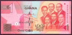 Ghana 1 Cedi PK 37a (1-7-2.007) S/C
