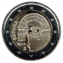 ABONO España 2018 2 Euros Santiago de Compostela