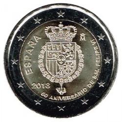 España 2018 2 Euros 50º Aniversario del Rey Felipe VI