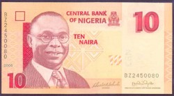 Nigeria 10 Naira PK 33a (2.006) S/C