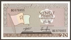 Ruanda 20 Francos PK 6e (1-1-1.976) S/C