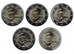 ABONO Alemania 2018 2 Euros las 5 cecas Helmut Schmidt