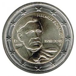 Alemania 2018 2 Euros cualquier ceca Helmut Schmidt S/C