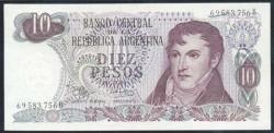 Argentina 10 Pesos PK 289 (1.970-73) S/C
