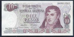 Argentina 10 Pesos PK 295 (1.973-76) S/C