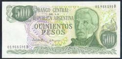 Argentina 500 Pesos PK 303c (1.976-83) S/C