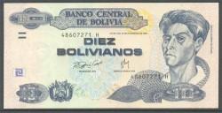 Bolivia 10 Bolivianos PK 223 (1.986) S/C
