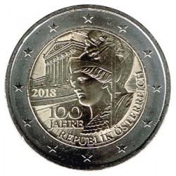 Austria 2018 2 Euros 100 Años de la República de Austria