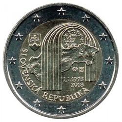 Eslovaquia 2018 2 Euros 25º Aniv de la República Eslovaca