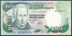 Colombia 200 Pesos Oro PK 429A (10-8-1.992) S/C