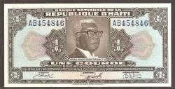 Haiti 1 Gourde PK 210 (1.979, Decreto 1.973) S/C