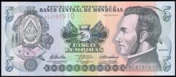 Honduras 5 Lempiras PK 91c (6-5-2.010) S/C