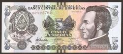 Honduras 5 Lempiras PK 98 (1--2.012) S/C