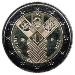 Lituania 2018 2 Euros. Centenario de la Fundación de los Estados Bálticos Independientes