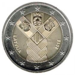 Letonia 2018 2 Euros Centenario de la Fundación de los Estados Bálticos Independientes