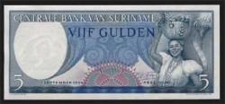 Surinam 5 Gulden PK 120 (1-9-1.963) S/C