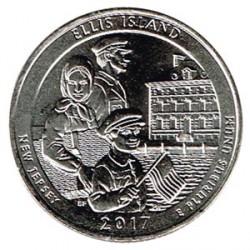 Estados Unidos (Parques) 2017 1/4 Dólar D (Ellis Island) S/C