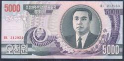 Corea del Norte 5.000 Won PK 46a (2.002) S/C