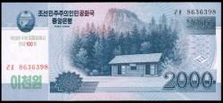 Corea del Norte 2.000 Won Pk 65 (2.009/2.009) S/C