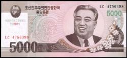 Corea del Norte 5.000 Won Pk 66 (2.008/2.009) S/C