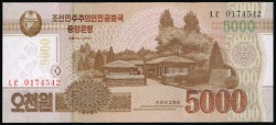 Corea del Norte 5.000 Won PK 67 (2.013) S/C