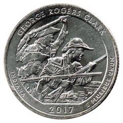 Estados Unidos (Parques) 2017 1/4 Dólar D (George Rogers Clark) S/C