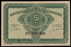 Indochina Francesa 5 Cents PK 88b (1.942) MBC+