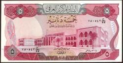Iraq 5 Dinares PK 64 (1.973) EBC+