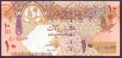 Qatar 10 Riyals PK 30 (2.008) S/C