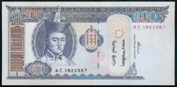 Mongolia 100 Tugrik Pk 65 (2.000) S/C