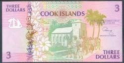 Islas Cook 3 Dólares Pk 6 (1992) S/C