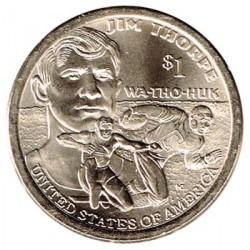 Estados Unidos 2018 1 dólar Sacagawea P. Jim Thorpe S/C