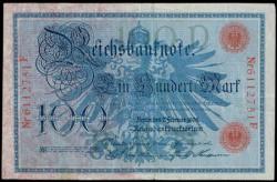Alemania 100 Marcos PK 33a (7-2-1.908) MBC+