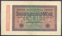 Alemania 20.000 Marcos PK 85b (20-2-1.923) MBC+