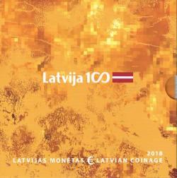 Letonia 2018 Cartera Oficial S/C