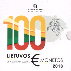 Lithuania 2018 Official Euroset UNC