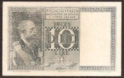Italia 10 Liras PK 25 (18-6-1.935) MBC
