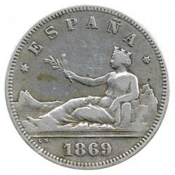 2 Ptas Gobierno Provisional 1869 MBC