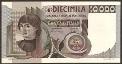 Italia 10.000 Liras PK 106b (3-11-1.982) EBC+
