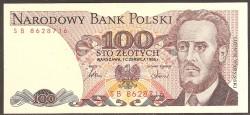 Polonia 100 Zlotych PK 143e (1-5-1.988) S/C