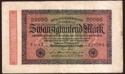 Alemania 20.000 Marcos PK 85a (20-2-1.923) MBC