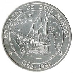 Portugal 1.000 Escudos de Plata 1992 Encuentro de dos mundos S/C