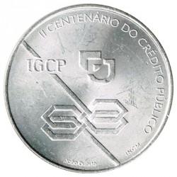 Portugal 1.000 Escudos de Plata 1997 2º Cent. Crédito Público EBC