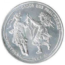 Portugal 1.000 Escudos de Plata 1997 Danza de los Paluteiros S/C-