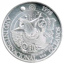 Portugal 1.000 Escudos de Plata 1998 Año Int. de los Océanos S/C