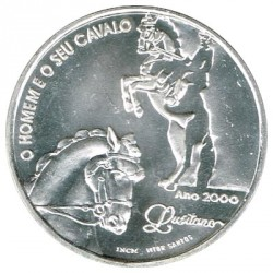 Portugal 1.000 Escudos de Plata 2000 El hombre y su caballo S/C-